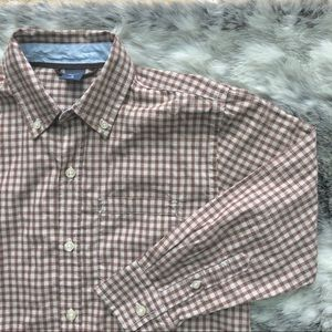 GAP boys dark rust checkered dress shirt size 8